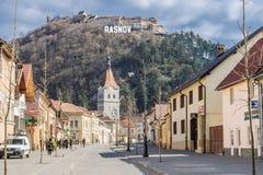 Rasnov Roemenië, Transsylvanië stock foto's