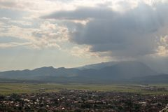 Top view of Rasnov in Romania. royalty free stock photos
