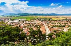 Panorama of Rasnov in Transylvania, Romania royalty free stock images