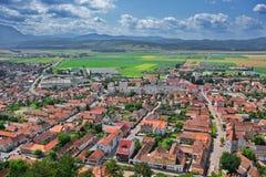 Rasnov-Stadt stockbild