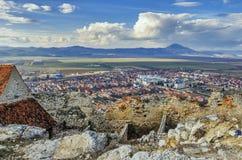 Rasnov-Stadt, Rumänien lizenzfreie stockfotografie