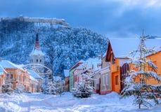 Rasnov-Stadt, Rumänien stockfotografie