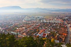 Rasnov town in Romania Stock Photography
