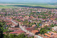 Rasnov village Stock Image