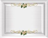 Raso del modello dell'invito di cerimonia nuziale Fotografie Stock