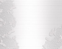 Raso e merletto dell'invito di cerimonia nuziale Immagini Stock