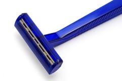 Rasoio blu Immagini Stock