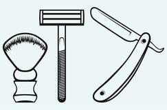 Simbolo del rasoio diritto illustrazione vettoriale for Simbolo barbiere