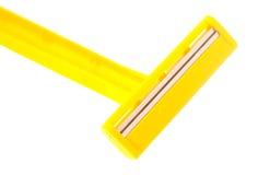 Rasoio giallo Fotografia Stock