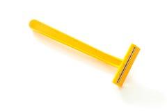 Rasoio giallo Fotografie Stock