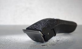 Rasoir électrique noir sans fil Photographie stock libre de droits
