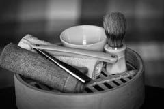 Rasoir rasant le rasoir d'accessoires Image stock