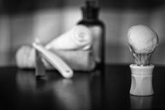 Rasoir rasant le rasoir d'accessoires Images libres de droits