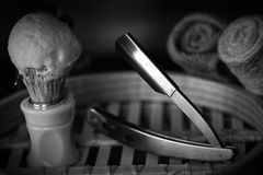 Rasoir rasant le rasoir d'accessoires Photo stock