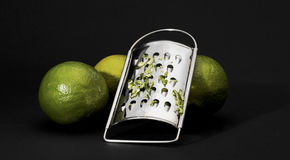Rasp with limes Stock Images