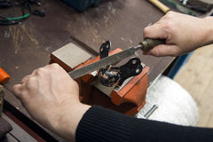 Rasp sharpening tools Royalty Free Stock Photos