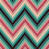 Raspa de arenque Pattern_Pink-Green Foto de archivo libre de regalías