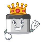 Raspador de los pasteles del rey en la forma de la historieta stock de ilustración
