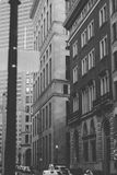 Raspadores do céu da cidade de Boston no inverno Imagens de Stock