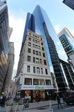 Raspadores do céu de Manhattan, NY, EUA imagens de stock