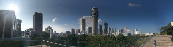Raspadores Singapur, National Gallery del cielo fotos de archivo libres de regalías