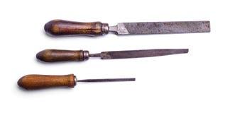Raspar, sparar för trä- och metallarbete Royaltyfria Foton