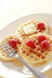 Raspberrie Waffles Stock Image