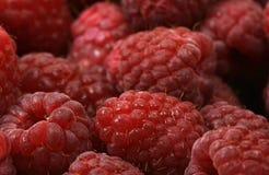 Raspberries. Red seen raspberries in the basket Royalty Free Stock Photos