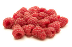 Raspberries. On a white background Stock Image