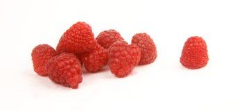 Raspberries Food Fruit Pieces White Background Royalty Free Stock Photos