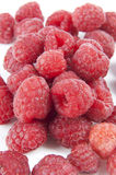Raspberries. Red Raspberries on white background Stock Images