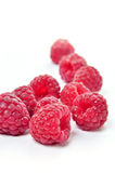 Raspberries. Isolated on white background Stock Photo