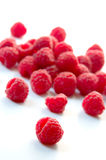 Raspberries. Still life of raspberries in white background Royalty Free Stock Image