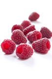 Raspberries. Isolated on white background Royalty Free Stock Photography