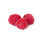 Raspberries. Ripe red raspberries isolated on white background royalty free stock photo