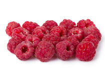 Raspberries. Ripe red raspberries isolated on white background royalty free stock images