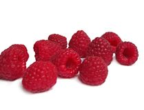 Raspberries. Isolated on white background Royalty Free Stock Images