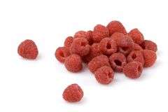 Raspberries. Isolated over a white background royalty free stock photo