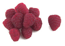 Raspberries. On a white background stock photo