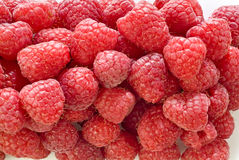 Raspberries. On a white background Royalty Free Stock Images