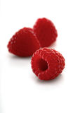 Raspberries backbround - close-up Stock Images