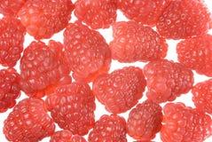 Raspberries background. Fresh red ripe raspberries isolated on white Stock Photo