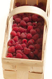 Raspberries in basket Royalty Free Stock Image