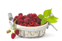 Raspberries in a basket Royalty Free Stock Images