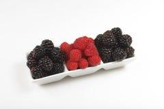 Raspberries and Blackberries Royalty Free Stock Photo