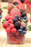 Raspberries, blackberries, strawberries background Royalty Free Stock Images