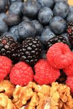 Raspberries, blackberries, strawberries summer background. Raspberries, blackberries, strawberries as nice fruit summer background Royalty Free Stock Images