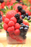 Raspberries, blackberries, strawberries summer background. Raspberries, blackberries, strawberries as nice fruit summer background Royalty Free Stock Photos
