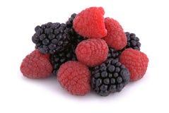 Raspberries and blackberries Royalty Free Stock Images