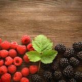 Raspberries and  blackberry Royalty Free Stock Photo